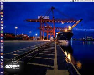 Ubuntu 14.04 LTS + Unity + Tapeta Gdynia !