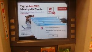 Reklamy w bankomacie :)