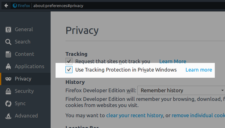 firefox privacy enable