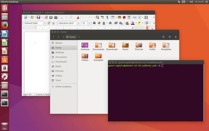 ubuntu 1610 desktop screenshot